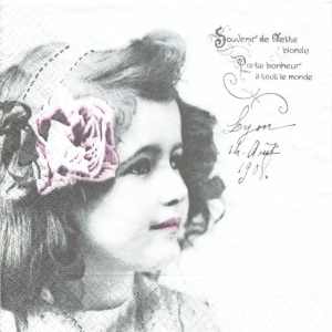 Serwetka do decoupage Vintage Girl 02