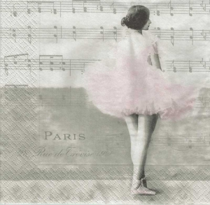 Serwetka do decoupage Ballet Paris